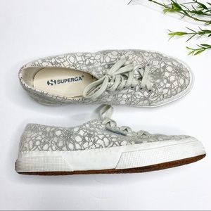 Superga - Women's Velvet Flower Sneakers